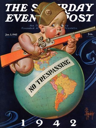 joseph-christian-leyendecker-no-trespassing-saturday-evening-post-cover-january-3-1942