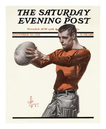 joseph-christian-leyendecker-punting-the-ball-c-1912