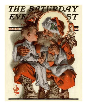 joseph-christian-leyendecker-santa-s-lap-c-1923