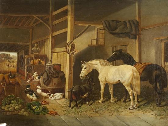 joseph-clark-a-stable-interior