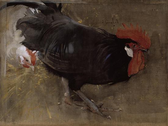 joseph-crawhall-the-black-cock