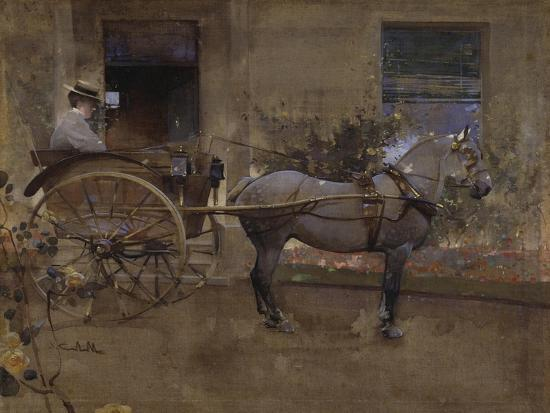 joseph-crawhall-the-governess-cart