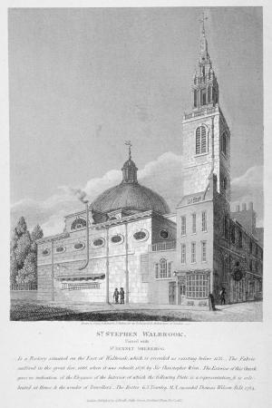 joseph-skelton-north-west-view-of-the-church-of-st-stephen-walbrook-city-of-london-1813