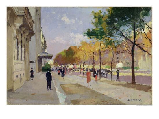 Avenue montaigne paris giclee print by jules ernest for Avenue jules dujardin 5
