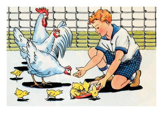 julia-letheld-hahn-feeding-the-chickens