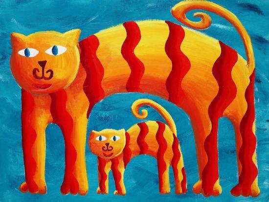 julie-nicholls-curved-cats-2004