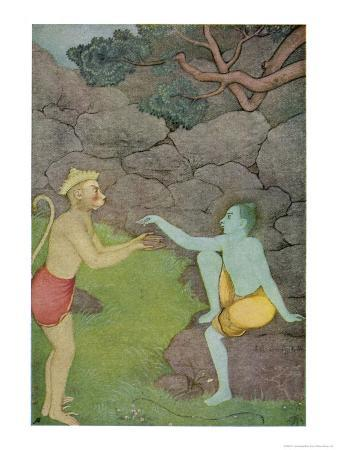 k-venkatappa-rama-put-his-trust-in-the-ape-hanuman-son-of-the-wind-god-to-find-his-abducted-wife-sita