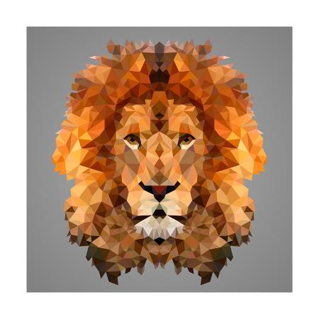 kakmyc-lion-low-poly-portrait