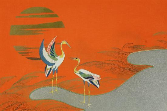 kamisaka-sekka-birds-at-sunset-on-the-lake-1903