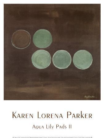 karen-lorena-parker-aqua-lily-pads-ii