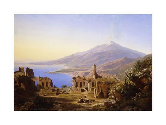 karl-robert-kummer-teatro-greco-taormina-with-etna-beyond