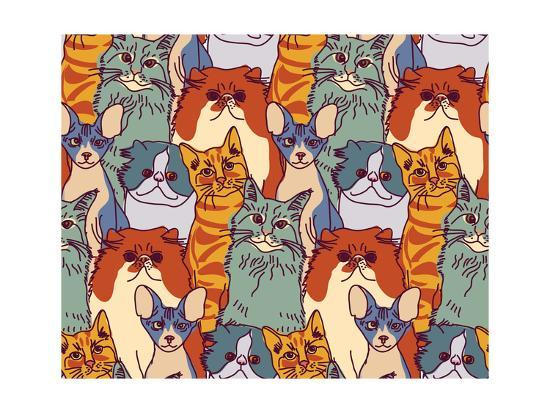 karrr-cats-pets-animal-group-color-seamless-pattern