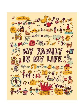 karrr-my-family-my-life-icons-and-objects-color