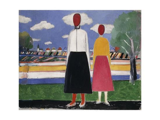 kasimir-malevich-two-figures-in-a-landscape