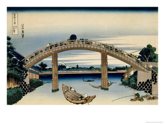 katsushika-hokusai-36-views-of-mount-fuji-no-4-through-the-mannen-bridge-at-fukagawa