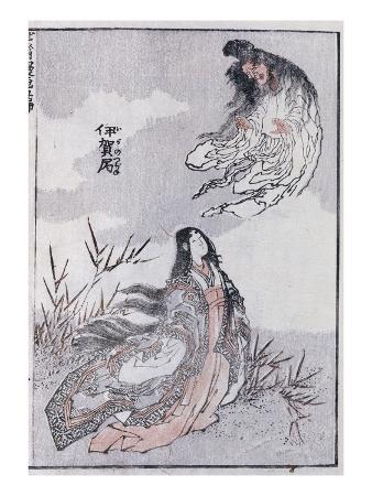 katsushika-hokusai-a-witch-and-a-woman-from-a-manga-colour-woodblock-print