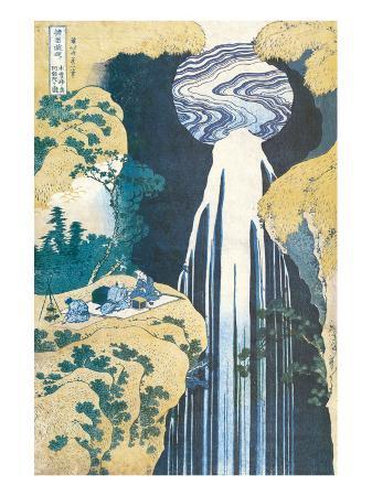 katsushika-hokusai-cascade-of-amida-province-of-kiso-c-1830