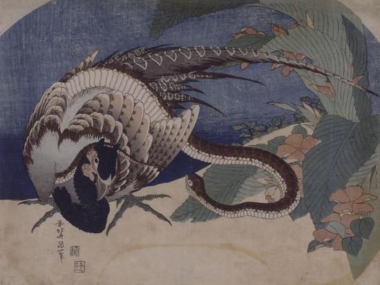 katsushika-hokusai-faisan-et-serpent