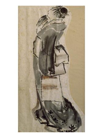 katsushika-hokusai-femme-de-profil