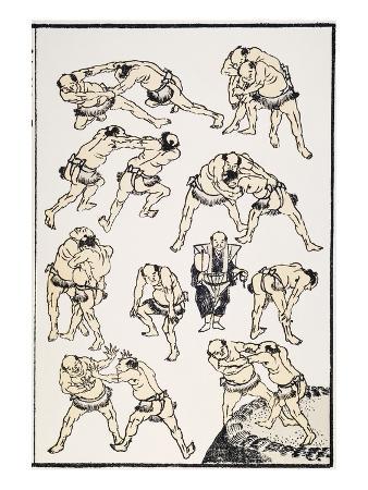 katsushika-hokusai-hokusai-sumo