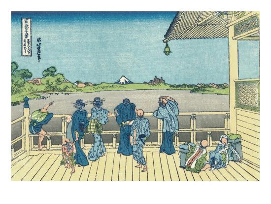 katsushika-hokusai-sazai-hall-of-the-five-hundred-rakan-temple