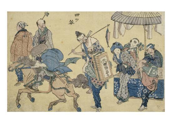 katsushika-hokusai-scenes-de-rue-nouvellement-publiees