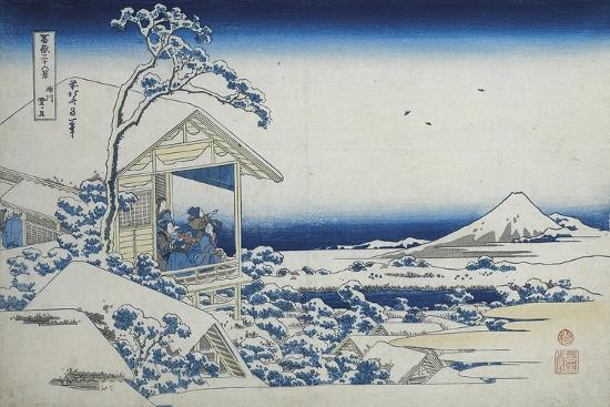 katsushika-hokusai-tea-house-at-koishikawa-the-morning-after-a-snowfall-c-1830