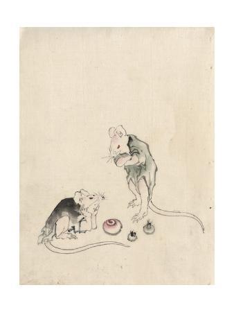 katsushika-hokusai-two-mice-in-council