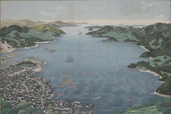 kawahara-keiga-nagasaki-harbour-c-1800-50