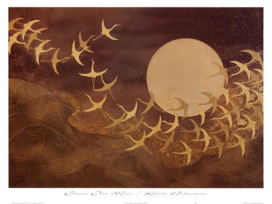 keiichi-nishimura-cranes-over-moon