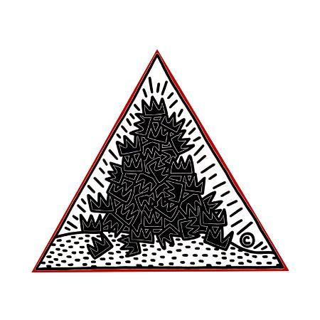 keith-haring-a-pile-of-crowns-for-jean-michel-basquiat-1988