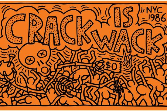 Crack is wack giclee print by keith haring at for Crack is wack mural
