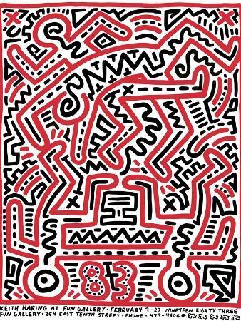 keith-haring-fun-gallery-exhibition-1983