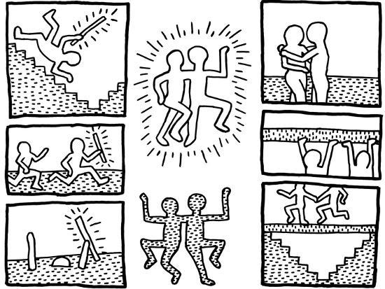The blueprint drawings 1990 giclee print by keith haring at art the blueprint drawings 1990 malvernweather Images
