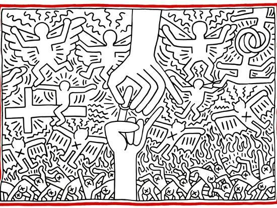 keith-haring-the-marriage-of-heaven-and-hell-1984