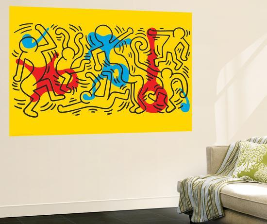 Untitled Pop Art Wall Mural by Keith Haring at Art.com