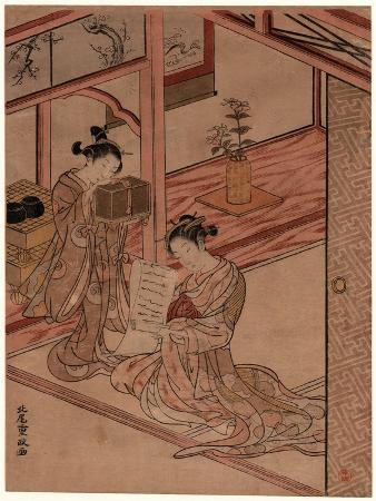kitao-shigemasa-zashiki-no-yujo-to-kamuro