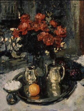 konstantin-alexeyevich-korovin-roses-and-violets-1912
