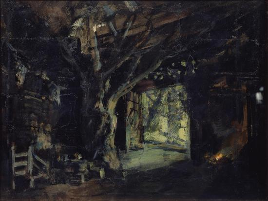 konstantin-alexeyevich-korovin-stage-design-for-the-opera-the-valkyrie-by-r-wagner-1919