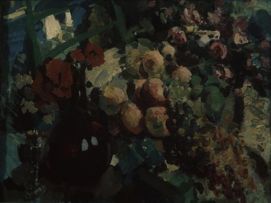 konstantin-alexeyevich-korovin-still-life-vine-and-fruits-1917