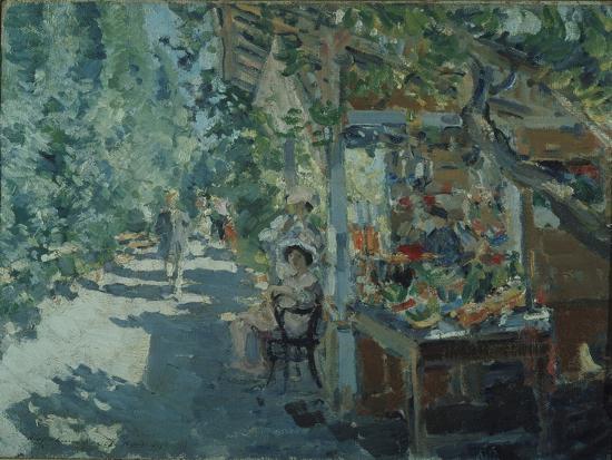 konstantin-alexeyevich-korovin-the-crimea-fruit-store-1913
