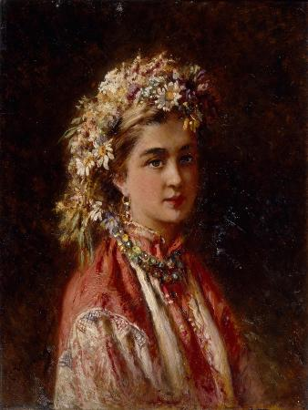 konstantin-yegorovich-makovsky-young-girl-with-flower-garland