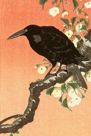 koson-ohara-crow-against-orange-sky