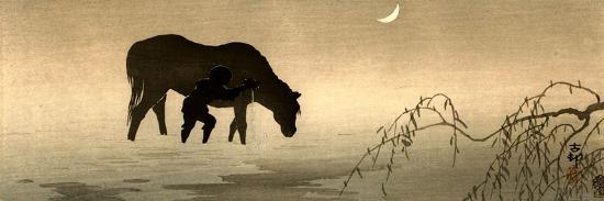 koson-ohara-farmer-and-horse-in-the-water