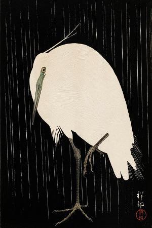 koson-ohara-white-heron-standing-in-the-rain