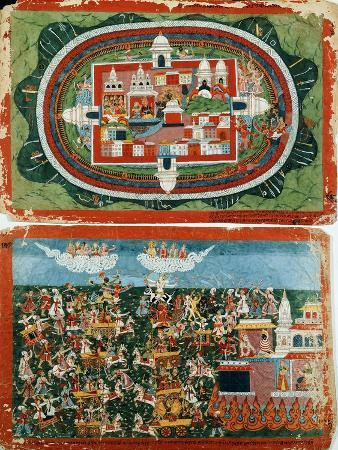 krishna-attacking-the-impregnable-castle-of-prag-jyoshita