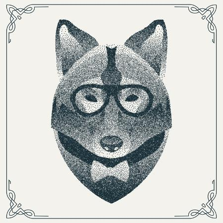 krol-halftone-dotwork-hipster-wolf-with-black-dots-abstract-geometric-modern-hipster-character-vector