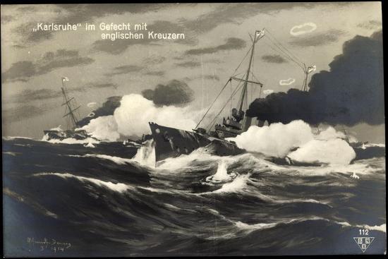 kuenstler-deutsches-kriegsschiff-karlsruhe-gefecht