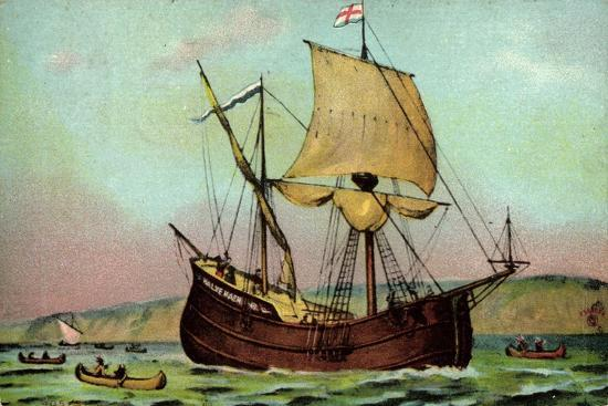 kuenstler-sailship-half-moon-new-york-harbour-indians