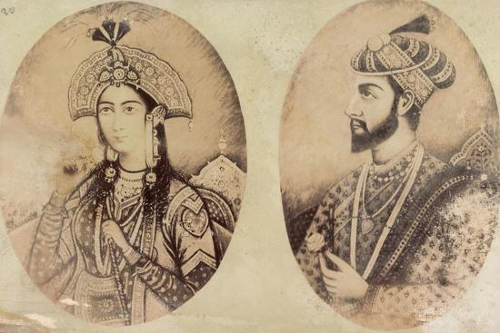 kuenstler-shah-jahan-and-his-wife-portraits